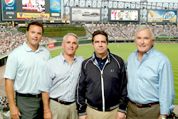 Chicago White Sox Pitcher Octavio Dotel, Apple CEO John Mullen, and Minister of Tourism Francisco Javier Garcia.