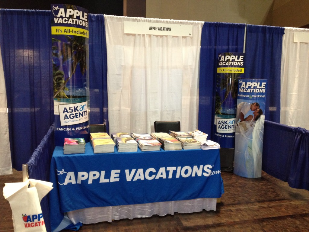 Apple booth ready for agents!