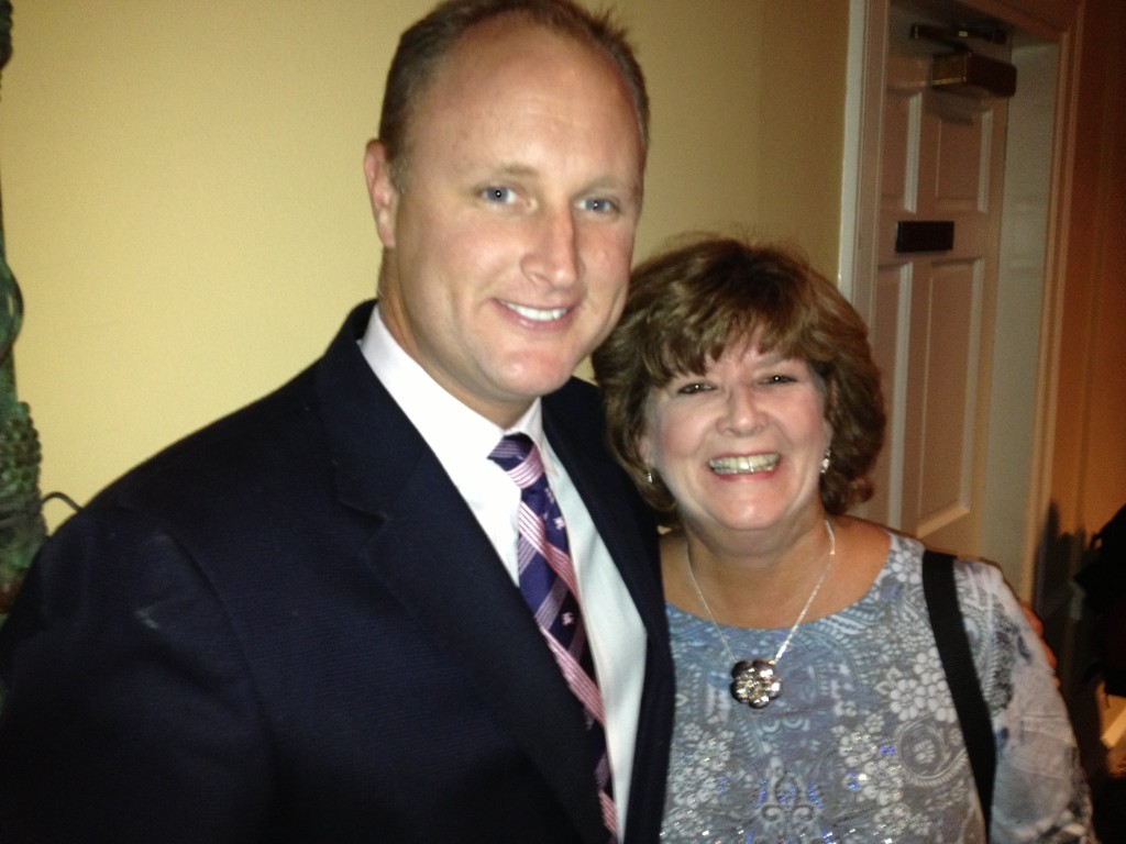 Matt Mullen from AMResorts with Philadelphia area Travel Agent Patty.