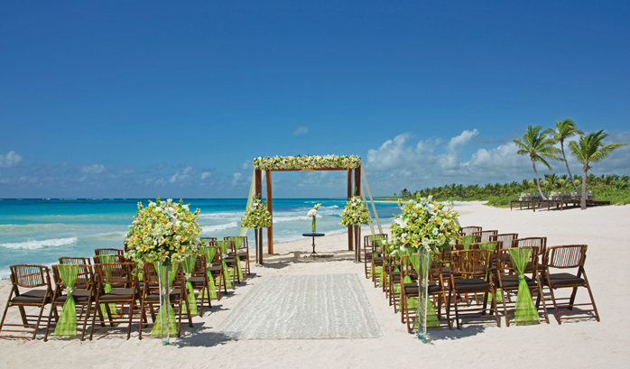 Dreams Tulum Green Wedding Beach