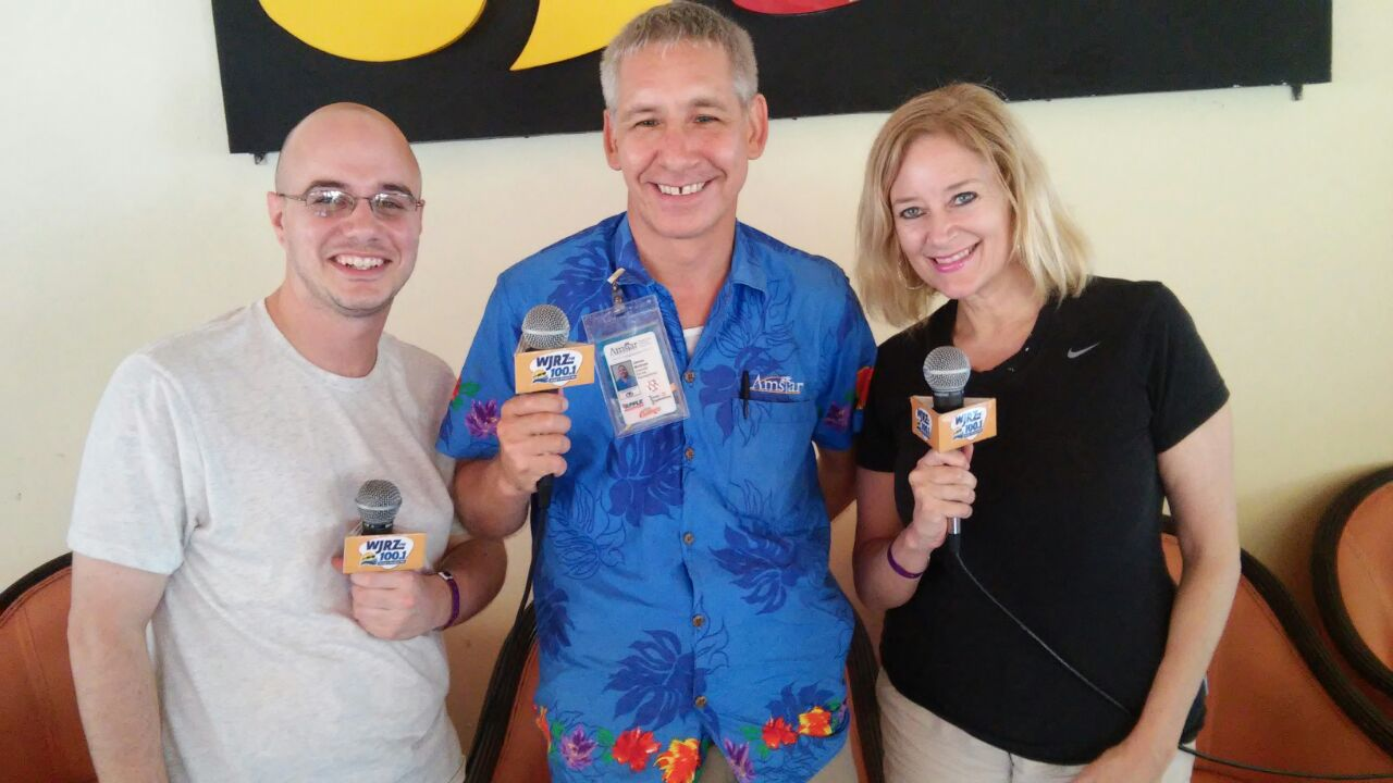 Matt Knight and Debbie DuHaime broadcasted from Grand Palladium Colonial Resort and Spa