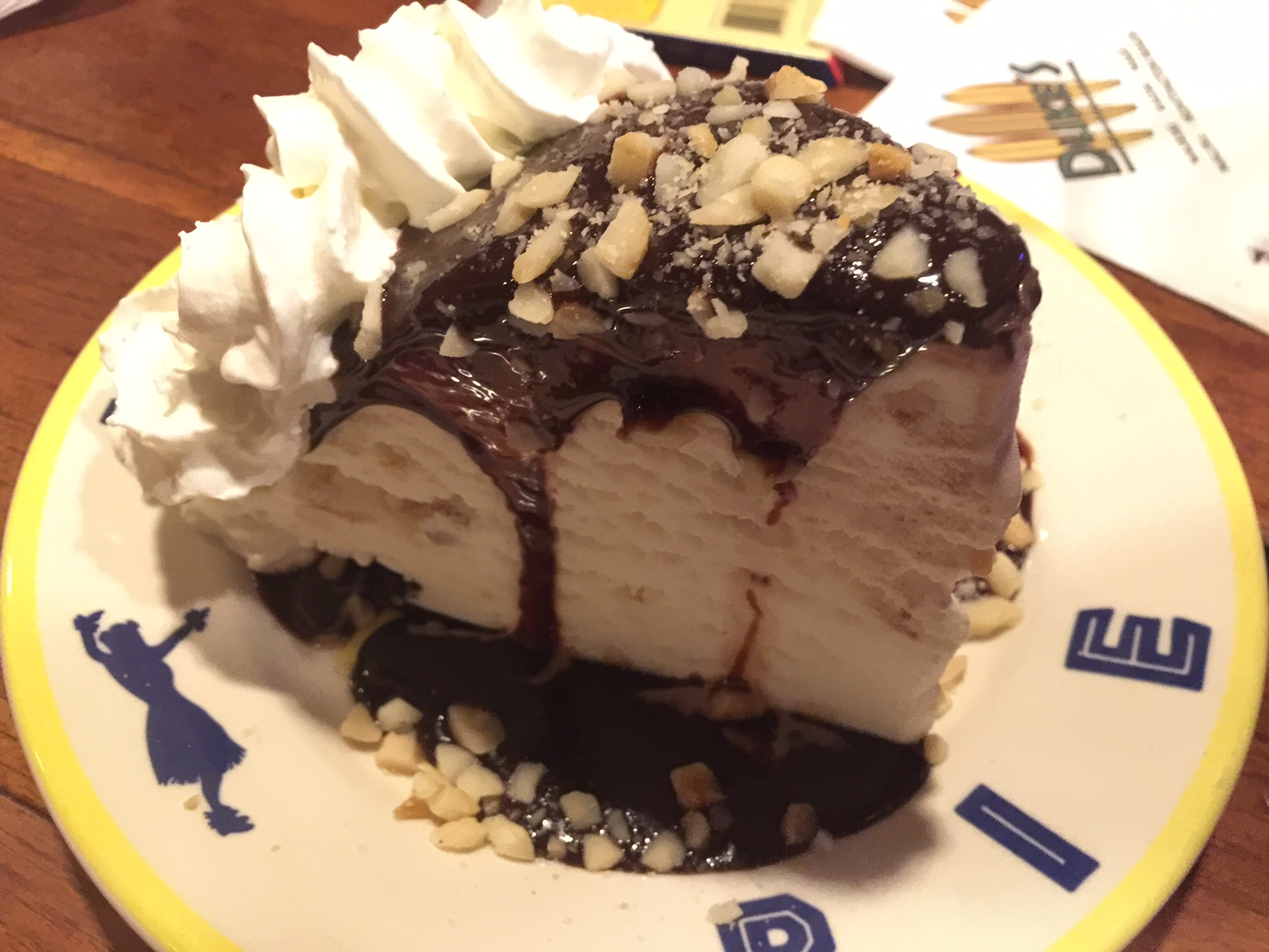 Duke's Waikiki: The Hula Pie is a must-get dessert. It's essentially a slice of ice cream topped with chocolate sauce, whipped cream and macadamia nuts.